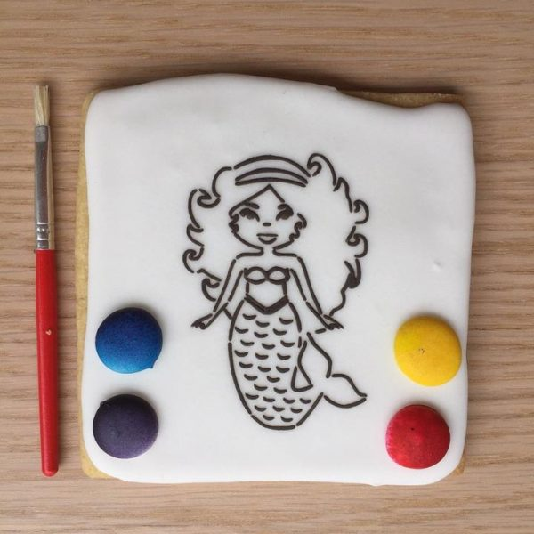 Paint Your Own Cookie Mermaid