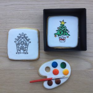 Paint Your Own PYO COokie Gift Box Christmas tree and Gingerbread House