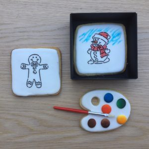 Christmas Cookie Paint Your Own Snowman and Gingerbread Man Gift box