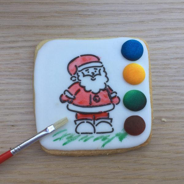 Christmas Paint YOur Own PYO Cookie Biscuit Santa