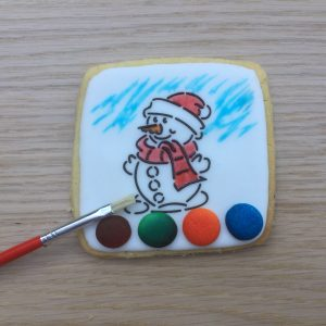 Christmas Paint Your Own PYO COokie Biscuit Snowman
