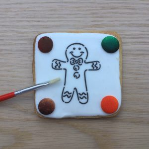 Christmas Paint Your Own COokie PYO Biscuit Gingerbread Man