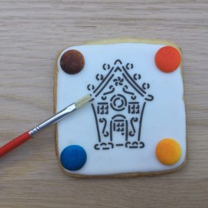 Christmas Paint Your Own PYO Cookie Biscuit Gingerbread House