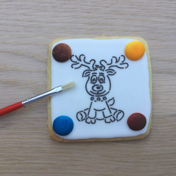 Christmas Paint Your Own PYO COokie Biscuit Reindeer