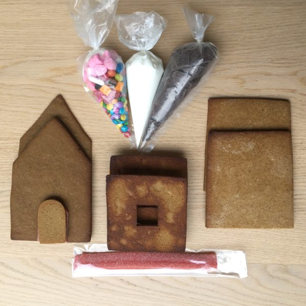 DIY Gingerbread House Kit with Sweets