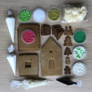 gingerbread house kit DIY ready baked